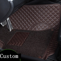 2018 new arrival 2 layers dust proof Car floor mats custom for chevrolet captive,5seats non slide easy clean pu leather car mat