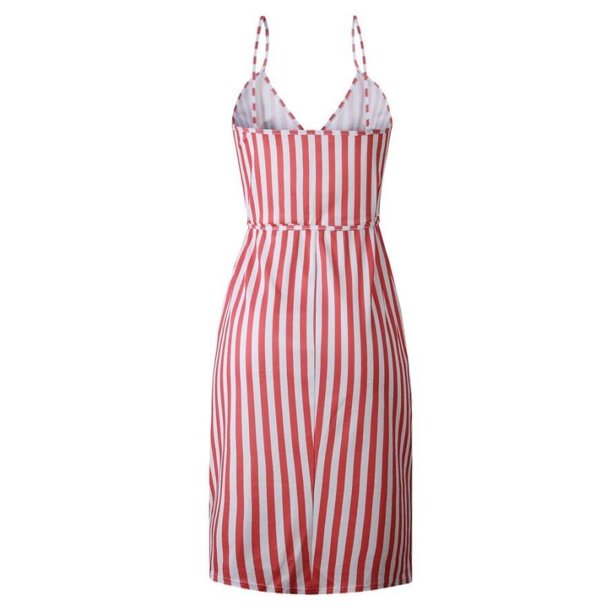 HTB1A p1IeuSBuNjSsplq6ze8pXaE KANCOOLD dress Women Stripe Printing Sleeveless Off Shoulder Dress Evening Party Vest Empire Sashes dress women 2018AUG1