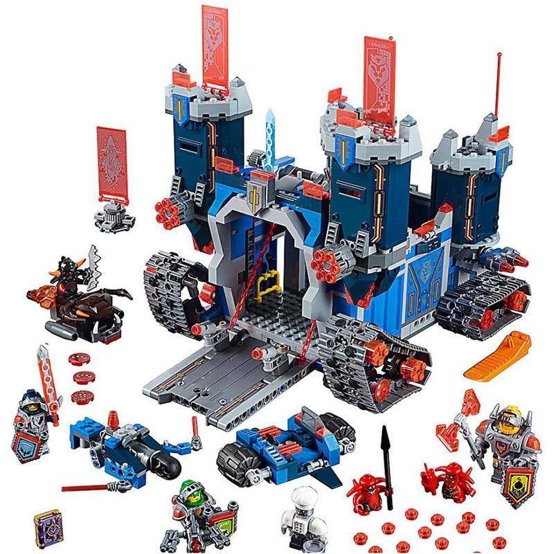 купить Bela 10490 Element Knights Series 70317 The Fortrex Castle Fortress Building Blocks 1171pcs Bricks Toys Gift For Children по цене 1749.67 рублей