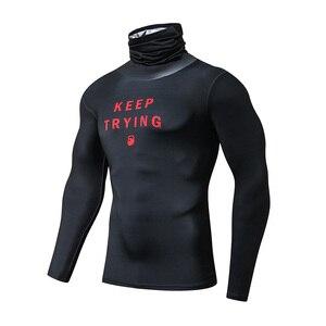 Image 1 - ZRCE Fashion męskie koszulki sportowe siłownia kompresja Skinny T shirt męskie trening Jogging kulturystyka odzież sportowa Top