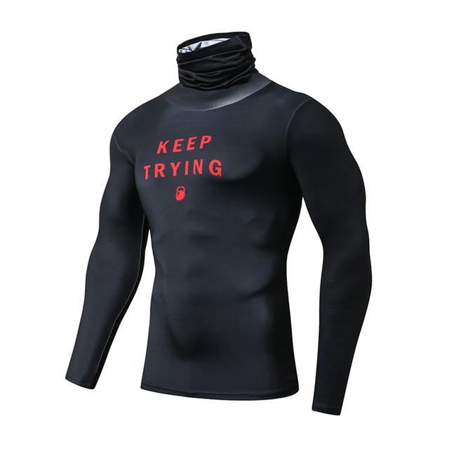 ZRCE Fashion męskie koszulki sportowe siłownia kompresja Skinny T shirt męskie trening Jogging kulturystyka odzież sportowa Top