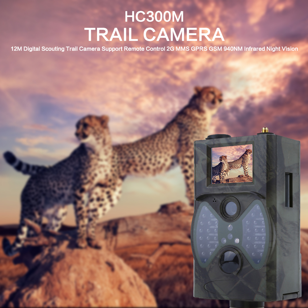 HC300M 940NM Infrared Night Vision Camera 2G MMS GPRS GSM 12M Digital Trail Hunting Camera For Hunting Support Remote Control keyshare dual bulb night vision led light kit for remote control drones