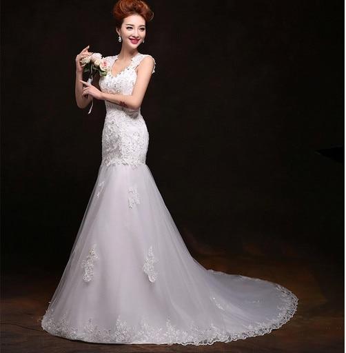 High end vintage lace voile mermaid wedding dress 2015 for High end wedding dress