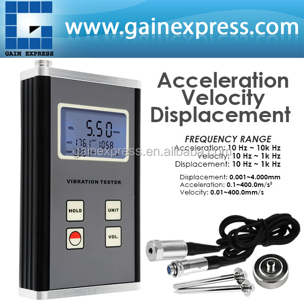 Digital Vibration Meter Piezoelectric Transducer Sensor Displacement Velocity Acceleration Tester 10Hz~10kHz Range vibration sensor