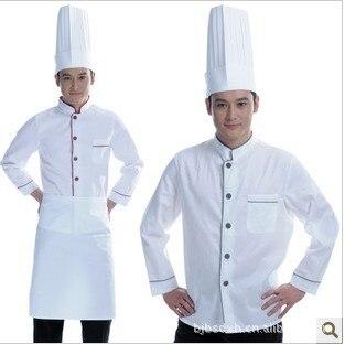 Oto o de manga larga guardapolvos cocina cocinero cocinero - Uniformes de cocina ...