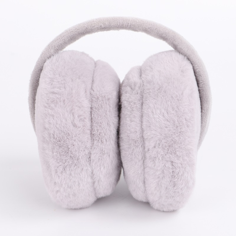 Solid Color Ladies Earmuffs Winter Warm Comfortable Unisex Skiing Fur Headphones Ear Muffs