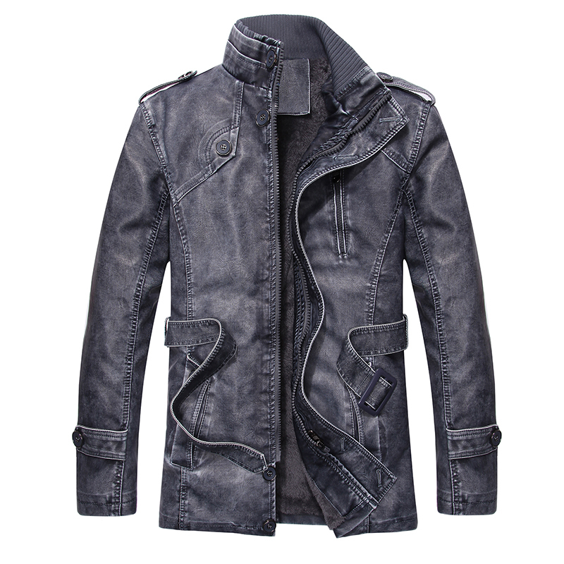M-EMPIRE PU Leather Men Coat Autumn Jacket Windbreaker