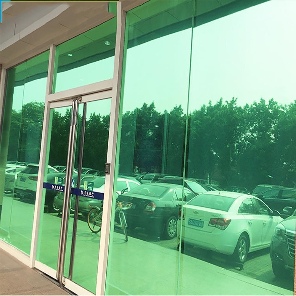 HOHOFILM 1.52x30 m vert décoratif fenêtre teinte verre autocollant bâtiment fenêtre Film solaire teinte fenêtre verre autocollant 60''x100ftRoll