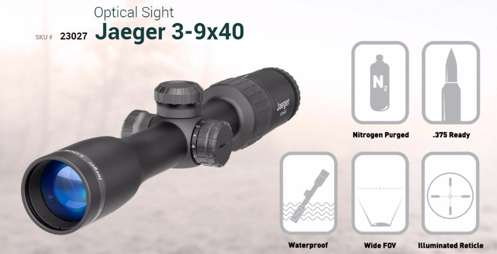 Original Yukon 23027 Craft 3-9x40 optical sight day vision scope craft for daytime hunting 3x-9x day riflescope for hungting
