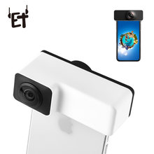 ET Clip Panoramic Lens Camera for iPhone Back Front Dual Lens iPhone 360 Degree Camera Lenses Kits for iPhone 6/6s/7/8 Plus(China)