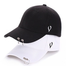 Fashion Black White Adjustable Snap Back Iron Ring Casual Popular Hip Hop Outdoor Baseball Caps 2017 BTS LIVE THE WINGS TOUR