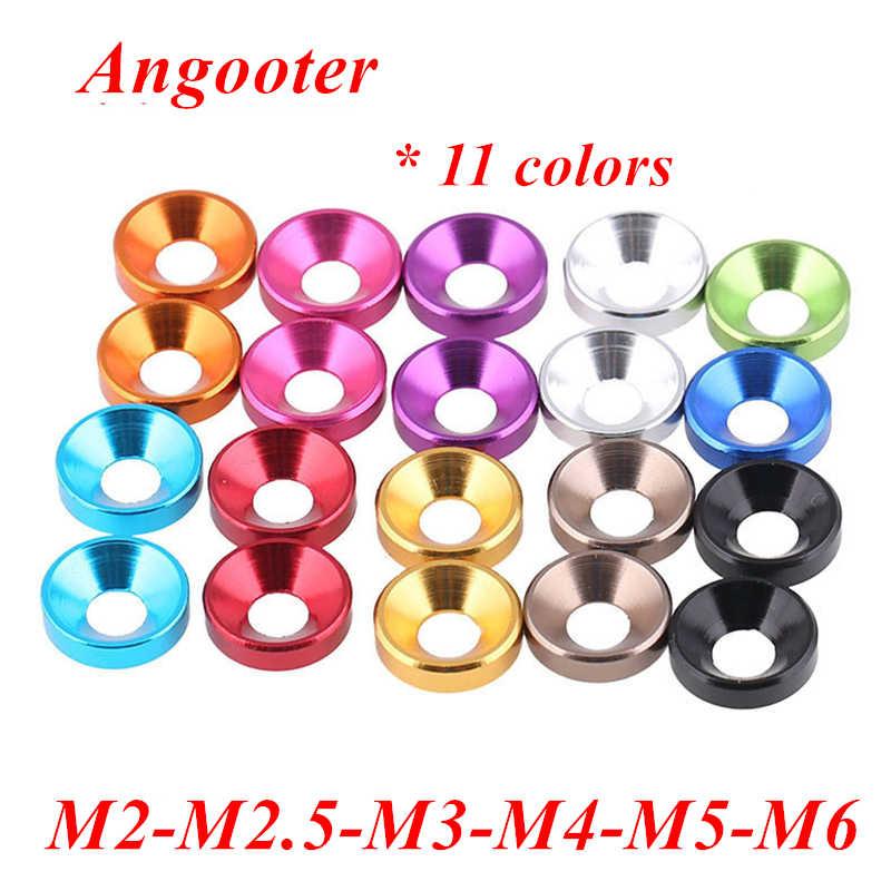 Aluminum Alloy Flat Head Washers Multiple Colour M2 M2.5 M3 M4 M5