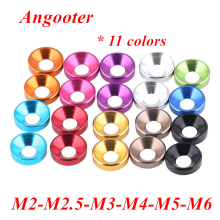 цена на 20pcs M2 M2.5 M3 M4 M5 M6 Aluminum washer Colorful anodized Aluminum Countersunk Head Bolt Washer Gasket for Flat head Bolts