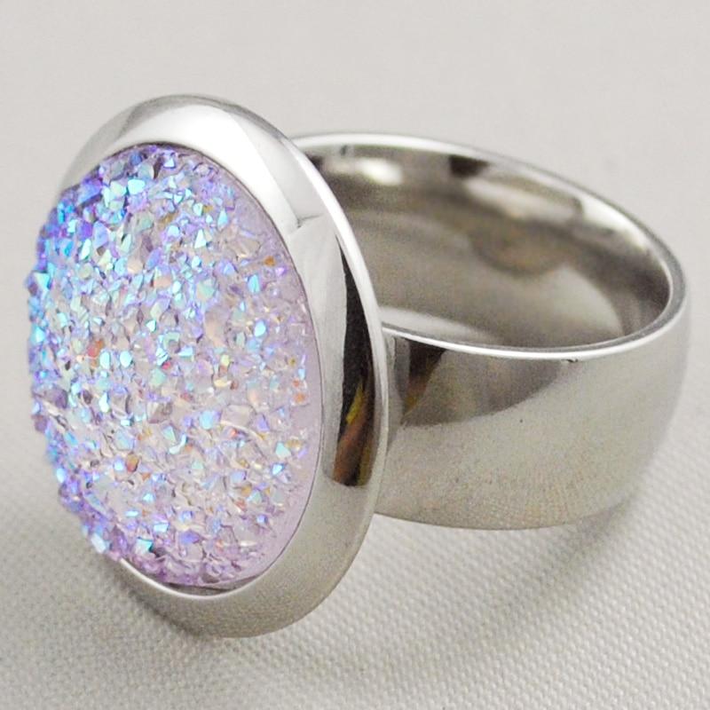 Gokadima Vintage Party Rings jewellery Green/Purple/White Stone Silver Color Sta