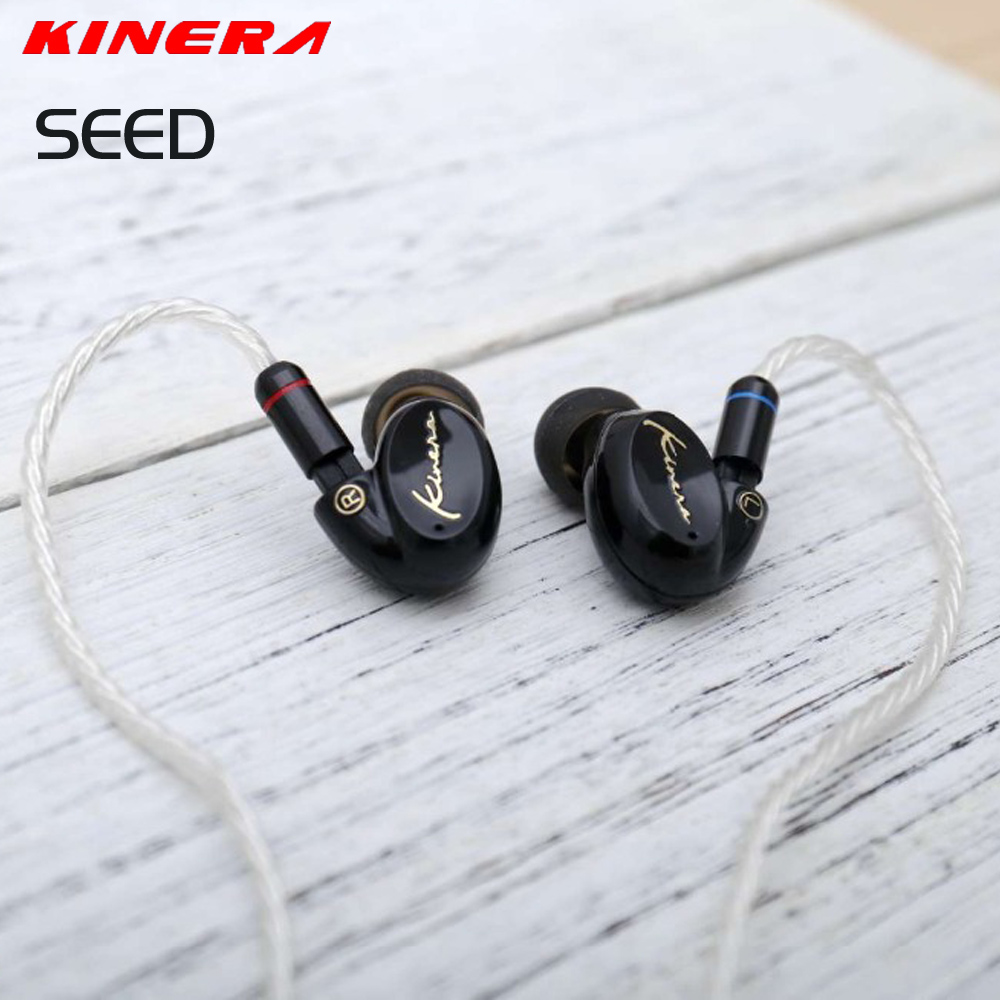 New KINERA SEED 3.5mm In Ear Earphone 1DD With 1BA Hybrid Drive HIFI Earphone Sport Earphone Monitor Headset Earplug Detachable original urbanfun earphone 3 5mm in ear earbuds hybrid drive earphones with microphone hifi auriculares with monitor earplug