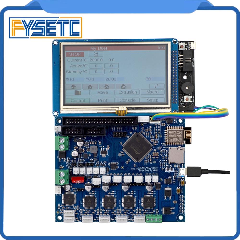 Version Duet 2 Wifi V1.03 Cloné DuetWifi Avancé 32 Bits Électronique Avec 4.3 5 7 PanelDue Couleur contrôleur D'écran tactile