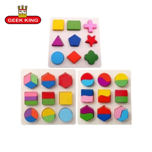 3pcslot Stereo Wooden Puzzles For Children 2 4 Years Old 3d Puzzle