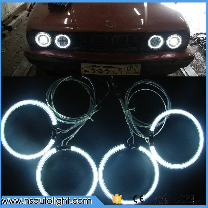 CCFL Angel Eyes ring kits for BMW E30 E32 E34 White Blue Red Yellow Green Purple 120mm ring angel eyes 4pcs set yellow car ccfl halo rings led angel eye headlight kits for bmw e32 e34 e30 e39oem j 4164