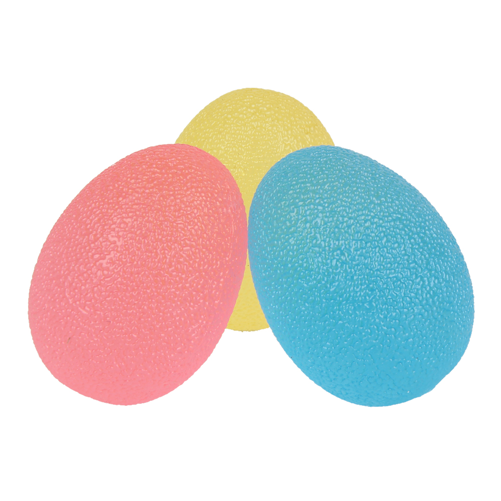 3PCS Grip Strengthening Therapy Stress Balls,Resistance Squeeze Eggs,Home Exercise Kits Hand Exercise Balls,Power Ball  3 Colors