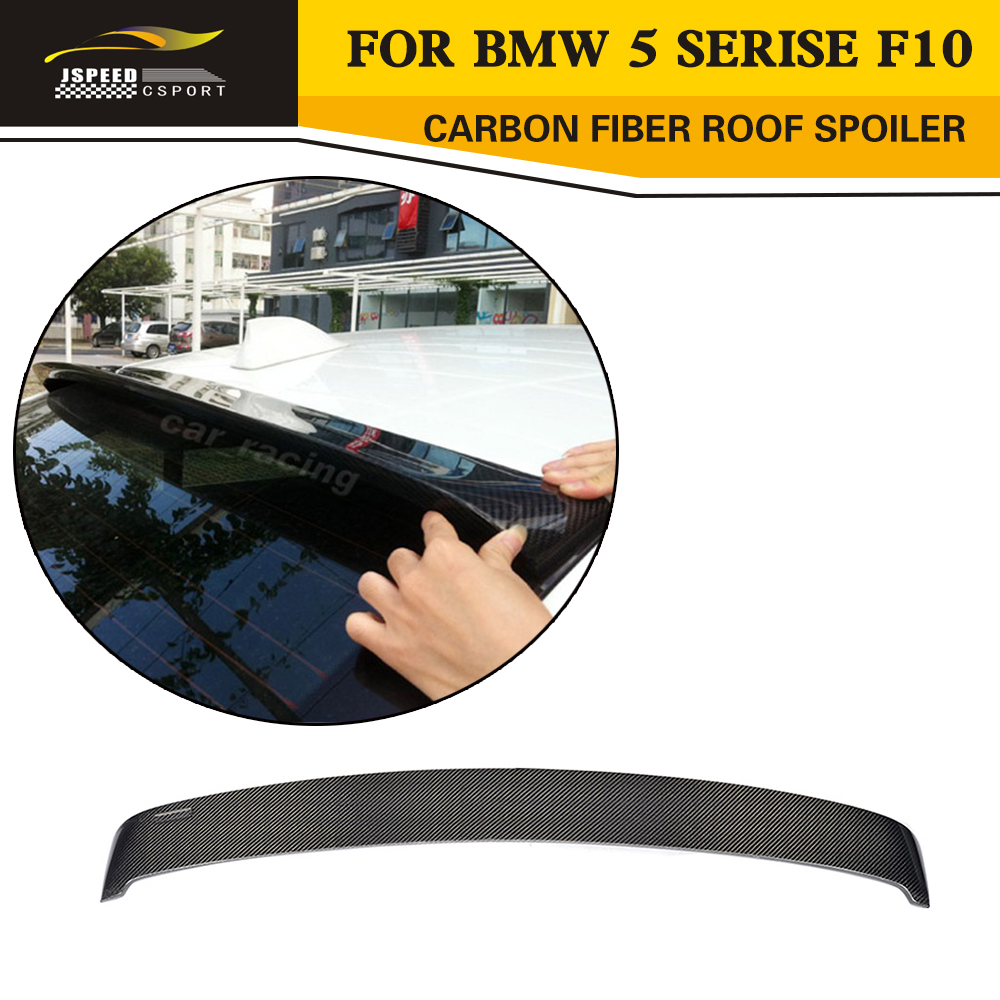 5 Series F10 HM Styling Carbon Fiber Car Roof Spoiler Wing for BMW F10 5 Series 520 523 535 2012-2015 цена