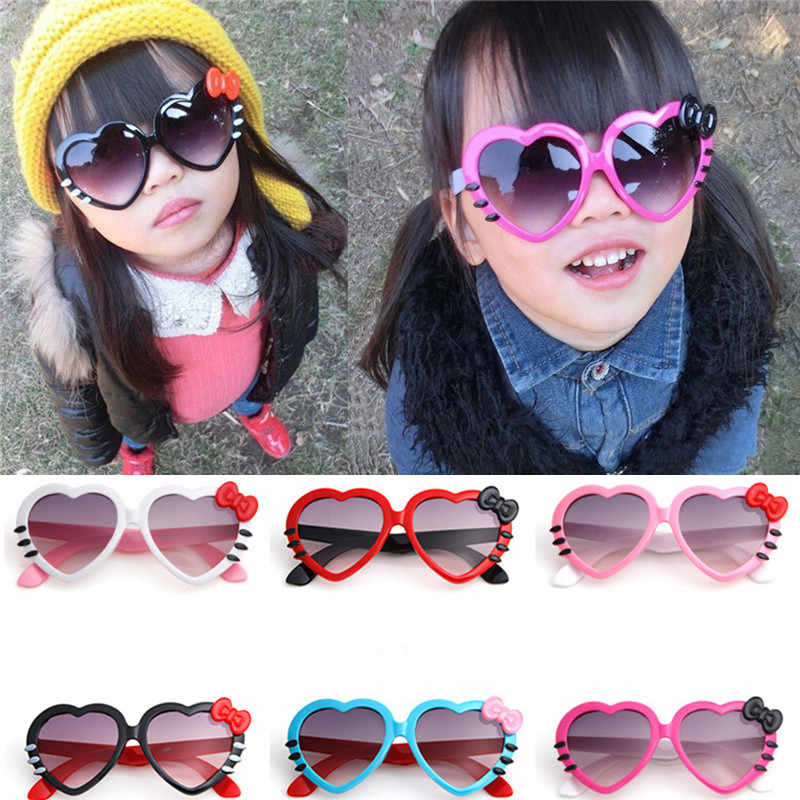 92b2bac01454 2018 New Fashion Kid's Sunglasses Boys Girls Child Lovely Cartoon Love  Heart Sun Glasses Eyewear UV400