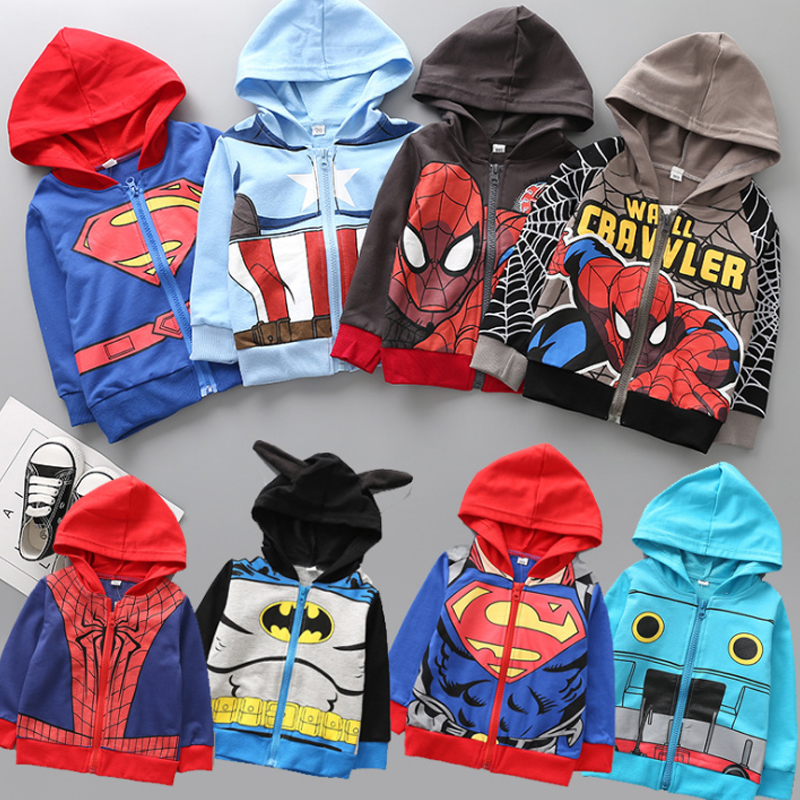 2018 Boys Hoodies Avengers Marvel Superhero Iron Man Thor Hulk Captain America Spiderman Sweatshirt for Boys Kid Cartoon Jacket dc marvel plush toys avengers superhero plush dolls captain america ironman iron man spiderman hulk plush soft toy spider man