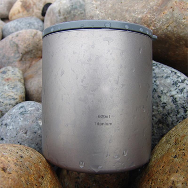 ФОТО Keith 600ml Cup Titanium Double-wall Mug With Lid Anti-acid No Scale No Odor Drinkware Copos For Camp Hiking 182g Ti83