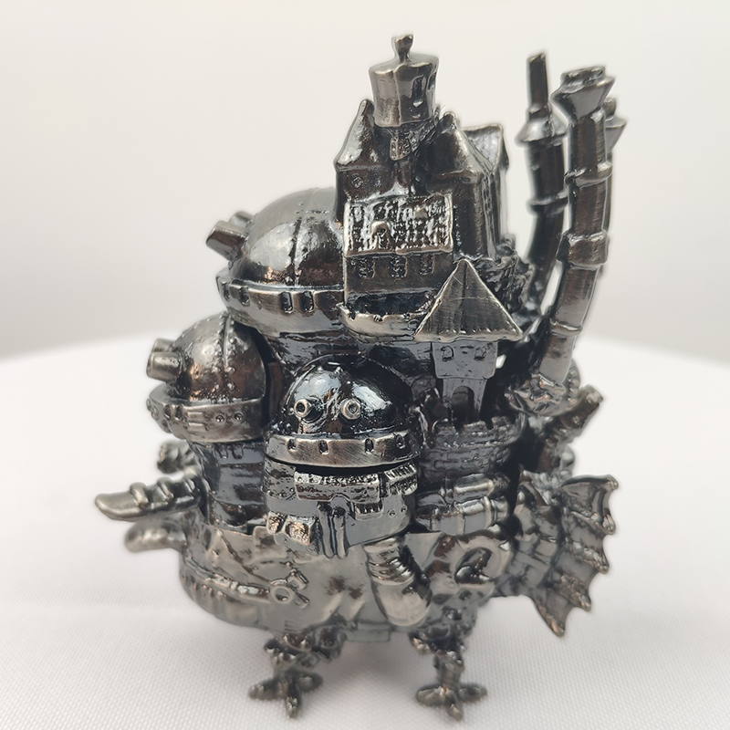 Cool Free Shipping Miyazaki Hayao Anime Howls Moving Castle 3D metal model limited edition Decoration dolls Game Kids Toy GiftCool Free Shipping Miyazaki Hayao Anime Howls Moving Castle 3D metal model limited edition Decoration dolls Game Kids Toy Gift