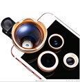 4en1 Schott Vidrio 3X Lente de Telephoto Clips Gran Angular Macro ojo de Pez Lentes para lenovo p780 s850 p90 vibe k5 lg g2 g3 g5 g4c asus