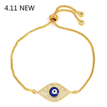 Lucky Eye Blue Evil Charms Bracelet For Women Men Crystal Jewelry Gifts  Friendship