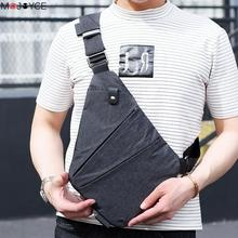 New Arrival Casual Man Sling Canvas Chest Bag Multifunctional Small Male Crossbody Bags Fashion Shoulder Bags