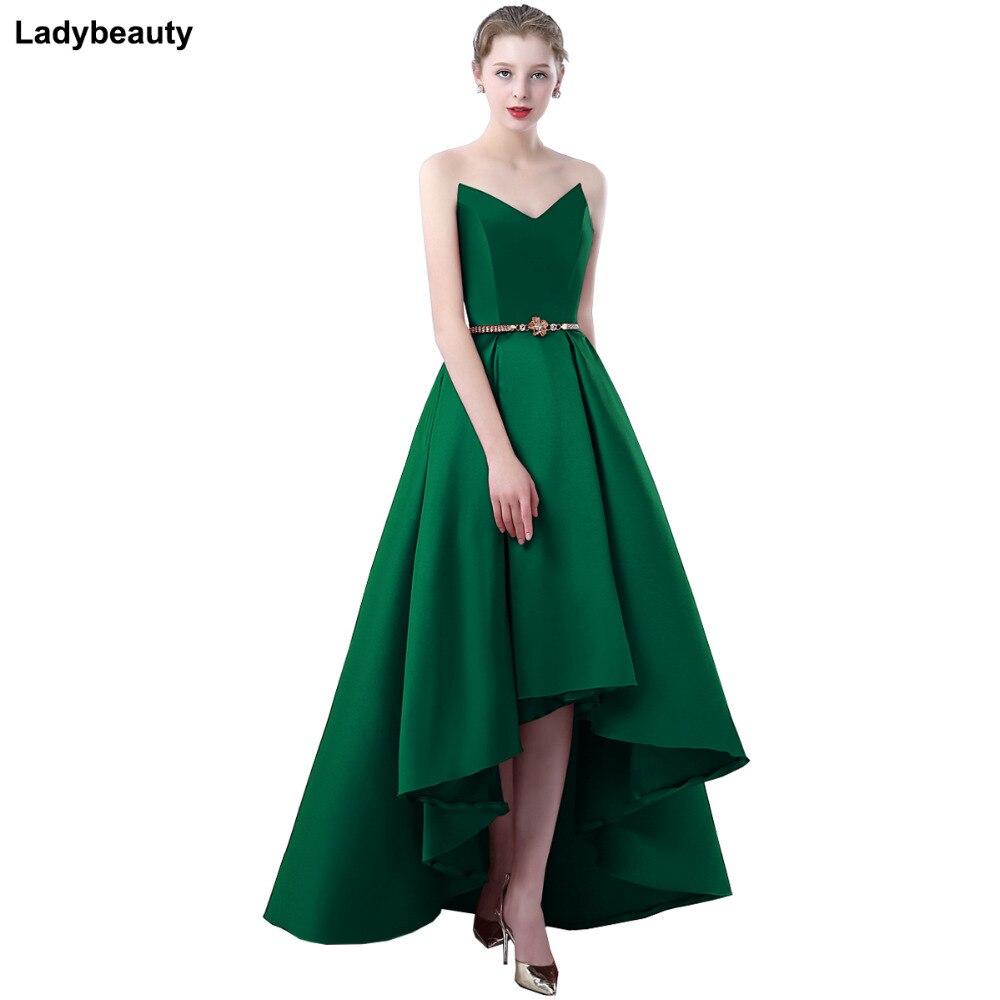 920a94500 Ladybeauty 2018 Vestido de satén para fiesta vestido de graduación Formal  corto vestido de noche Sweetheart