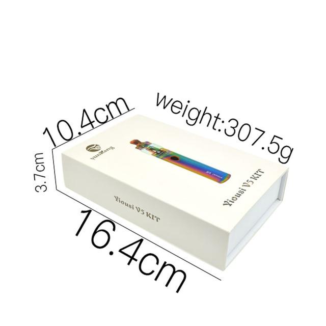 , Electronic cigarette Yiousi V5 vape pen Kit 3000mah battery vaporizer fit 4ml atomizer 0.3ohm dual coil vaporizer vaper pen kit