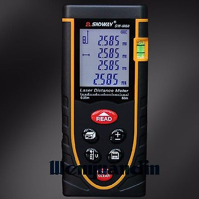 Digital LCD Laser Point Distance Meter Range Measure Rangefinder With Level Bubble 80M 262ft Range Measuring Tool