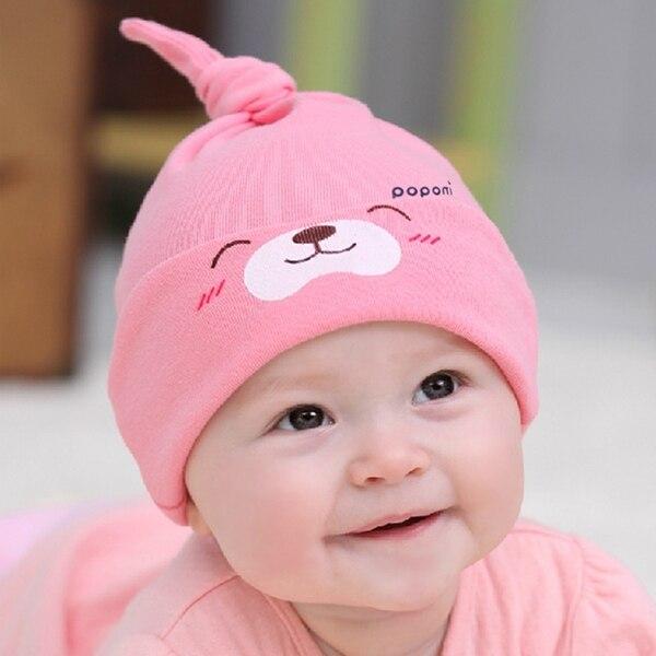 d418b0627 Nova dos desenhos animados do bebê crianças algodão conforto do sono  Headwear bonito