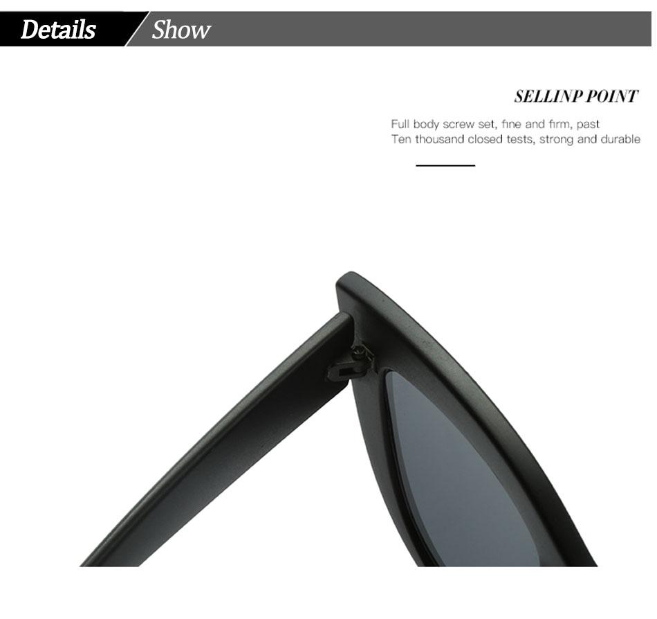 Black Classic Cat Eye Women Sunglasses Designer Brand Trend Style Glasses Adult Eyeglasses 12
