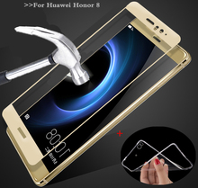 MPCQC 2.5D 9H For Huawei Honor eight 32Gb RAM 4G glass tempered full cowl tempered glass Huawei Honor eight display protector glass Movie