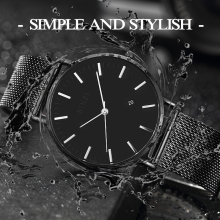 BINZI New Ultrathin Watch Men Black Quartz Men Watch Calendar Stainless Stell Simple Grace Waterproof Relogio Masculino