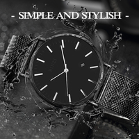 BINZI New Ultrathin Watch Men Black Quartz Men Watch Calendar Stainless Stell Simple Grace Waterproof Relogio