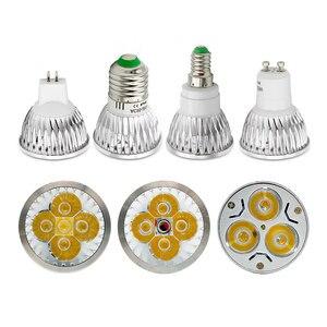 1x High Power GU10 LED Spotlight Ampoule 9W 12W 15W E27 Light Dimmable E14 Bombillas 85-265V Lamp MR16 12V LED Bulb Lamparas