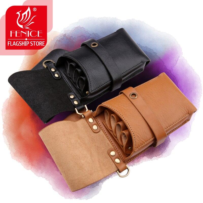 Professional Imported Cowleather Pet Hair Scissor Bag Case Barber Holster Pouch Holder Purse Adjustable Waist Shoulder