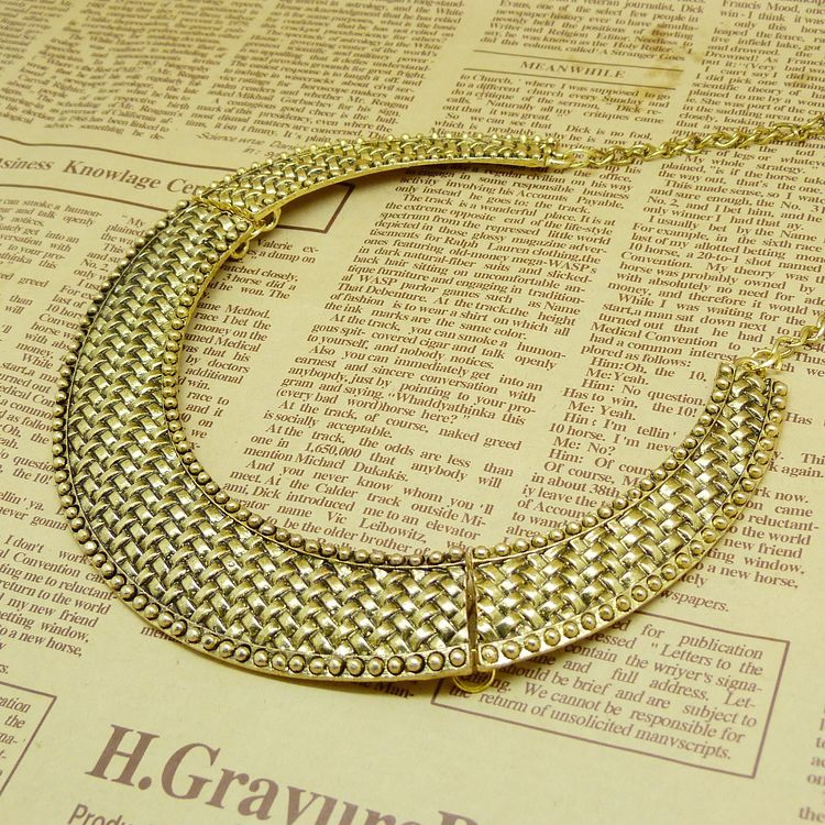Hot Selling Free Shipping Vintage Metal Knitted Pattern Bronze Color ...