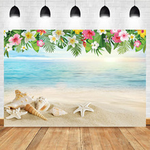 Get more info on the Neoback Summer Beach Flower Custom Photography Backdrops Shell Conch Beach Photography Backdrops Studio Shoots