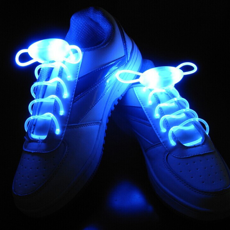 Party Skating Charming LED Flash Light Up Glow Shoelaces Shoe Laces Shoestrings
