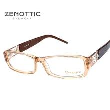 ZENOTTIC 2019 Eyeglasses Frame Women Luxury Optical Lady Style Acetate Glasses Spectacles Oculos De Grau Prescription