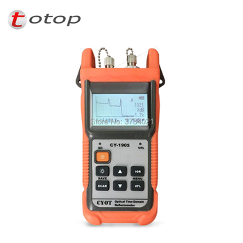 Envío Gratis fibra óptica OTDR portátil CY-190S óptico reflectómetro CY190S VFL fibra encontrar probador con FC/PC CY 190 S