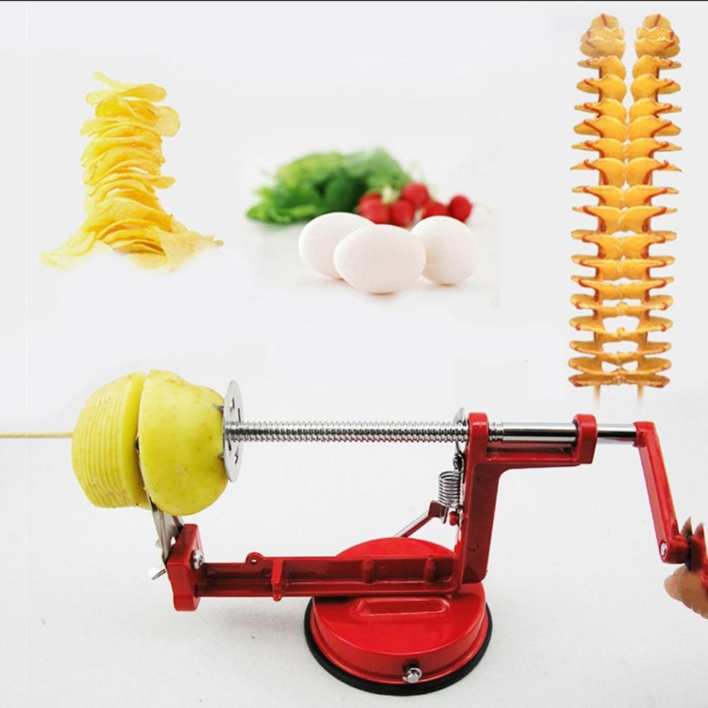 New Stainless Steel Manual Potato Machine Tornado Slicer Strange New Home Kitchen Tool