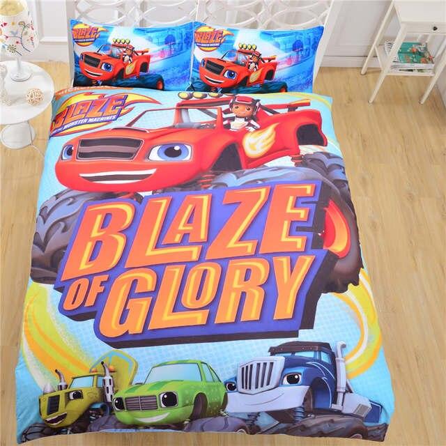 Moonpalace Cartoon Bedding Set Blaze And Monster Machine Duvet