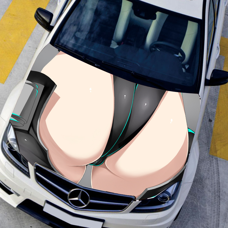 Car styling hood sticker sexy buttock decals camouflage vinyl film exteriors single ralliart stickers on cars protective film on aliexpress com alibaba