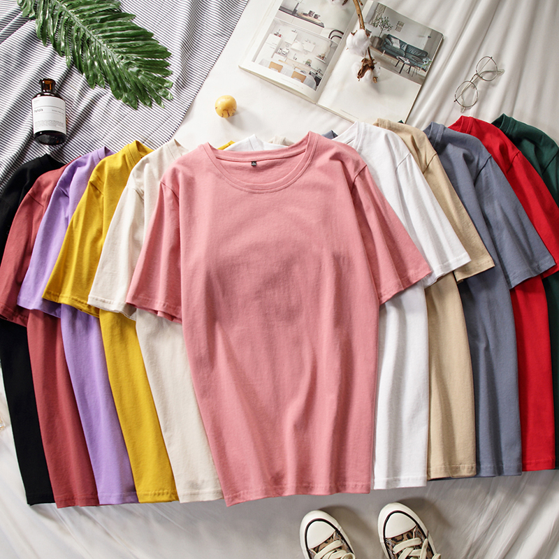 Casual Harajuku Women T Shirt Ladies Tops Summer New Female T-shirts Short Sleeve Oversize Basic Tee Cotton Loose Plus Size 4XL